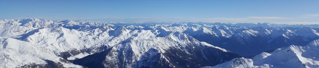 Blick vom Wurmkogel/Hochgurgl nach Südtirol